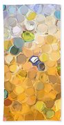 Marble Collection I Abstract Beach Towel