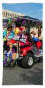 Mardi Gras Clowning Beach Towel