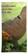 Marigold Dove With Verse Beach Towel