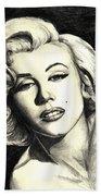 Marilyn Monroe Beach Towel by Debbie DeWitt