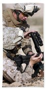 Marine Gives Instructions On How Beach Towel