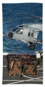Marines Attach Cargo To An Mh-60s Sea Beach Towel