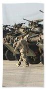 Marines Perform Maintenance On Light Beach Towel by Stocktrek Images