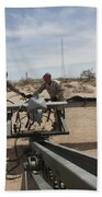 Marines Place An Rq-7 Shadow Unmanned Beach Towel