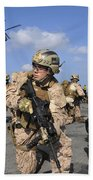 Marines Position Themselves Beach Towel