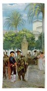 Market Day In Spain Beach Towel