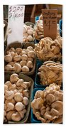 Market Mushrooms Beach Towel