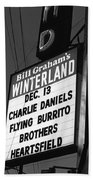Marquee At Winterland In Late 1975 Beach Towel