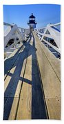 Marshal Point Lighthouse Walkway Beach Towel
