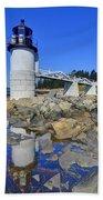 Marshall Point Light Reflection Beach Towel