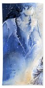 Mary Magdalene Beach Towel by Miki De Goodaboom