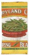 Maryland Chef Beans Beach Towel by Debbie DeWitt