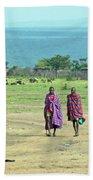 Masai Village Beach Towel