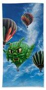 Mass Hot Air Balloon Launch Beach Towel