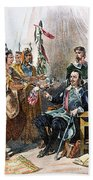 Massasoit & Carver, 1620 Beach Towel