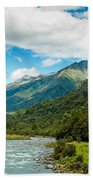 Massive Cloudy Sky Above The Wilderness Beach Towel