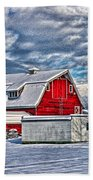 Matsqui Barn Hdr Beach Towel