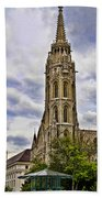 Matthias Church Tower - Budapest Beach Towel