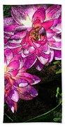 Maui Pink Garden Beach Towel