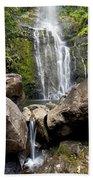 Mauis Wailua Falls And Rocks Beach Towel