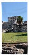 Mayan Temple Beach Towel