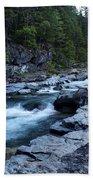 Mcdonald River Glacier National Park - 3 Beach Towel