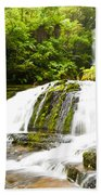 Mclean Falls In The Catlins Of South New Zealand Beach Towel