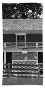 Mclean House Bw Appomattox Virgnia Beach Towel