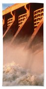 Mcnary Dam Beach Towel by DOE/Science Source