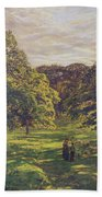Meadow Scene  Beach Towel by John William Buxton Knight