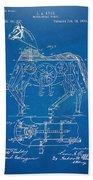 Mechanical Horse Toy Patent Artwork 1893 Beach Towel by Nikki Marie Smith