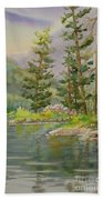 Medicine Lake Jasper Beach Towel