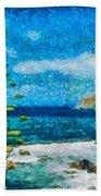 Mediterranean View Beach Towel