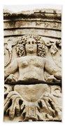 Medusa Of Ephesus Turkey Beach Towel