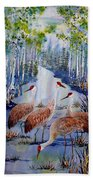 Meeting At The Slough Beach Towel