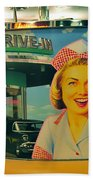 Mels Drive In Beach Towel by David Lee Thompson