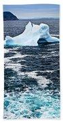 Melting Iceberg Beach Towel by Elena Elisseeva