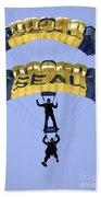 Members Of The U.s. Navy Parachute Beach Towel