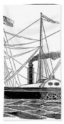 Merchant Steamship, 1838 Beach Towel