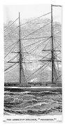 Merchant Steamship, 1844 Beach Towel