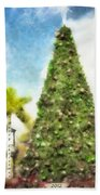 Merry Christmas Tree 2012 Beach Towel