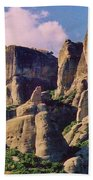 Meteora Greece Beach Towel