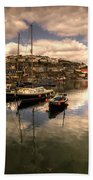 Mevagissy Harbour Beach Towel