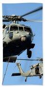 Mh-60s Sea Hawk Helicopters In Flight Beach Towel