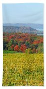 Michigan Winery Views Beach Towel