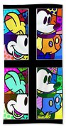 Mickey In Colors Beach Towel