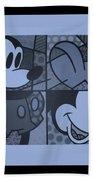 Mickey In Cyan Beach Towel