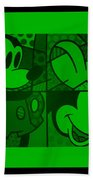 Mickey In Green Beach Towel