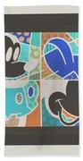 Mickey In Negative Beach Towel