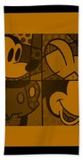 Mickey In Orange Beach Towel